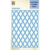 Nellie's Choice Layered Combi Die Lattice laag B 106x150mm (LCDL002) (05-19)
