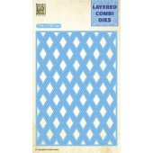 Nellie's Choice Layered Combi Die Lattice laag C 106x150mm (LCDL003) (05-19)