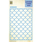 Nellie's Choice Layered Combi Die golf laag A 106x150mm (LCDW001) (05-19)
