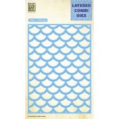 Nellie's Choice Layered Combi Die golf laag B 106x150mm (LCDW002) (05-19)