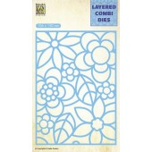 Nellie's Choice Layered Combi Die Blumen-2 laag A 106x150mm (LCDB001) (05-19)