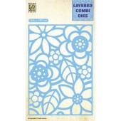 Nellie's Choice Layered Combi Die Blumen-2 laag B 106x150mm (LCDB002) (05-19)