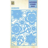 Nellie's Choice Layered Combi Die Blumen-2 laag C 106x150mm (LCDB003) (05-19)