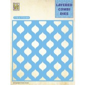 Nellie's Choice Layered Combi Die Druppels laag B 116x116mm (LCDD002) (05-19)