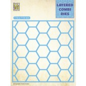 Nellie's Choice Layered Combi Die Honingraat laag A 116x116mm (LCDH001) (05-19)*