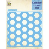 Nellie's Choice Layered Combi Die Honingraat laag B 116x116mm (LCDH002) (05-19)*