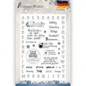 Clearstamp - Amy Design -  Vintage Winter - Deutsch