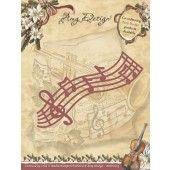 Die - Amy Design - Vintage Christmas Collection Die - Musical Stave