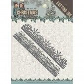Die - Amy Design - Christmas Wishes - Holly WreathSnowflake Borders