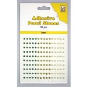 Adhesive Pearls - Green - 3 mm