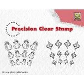 Clearstamp - Precision - Snowman-Christmas ball