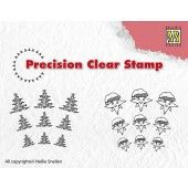 Clearstamp - Precision - Christmas tree-star