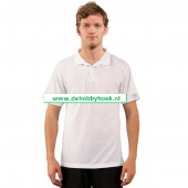 Vapor Sublimatie textiel - Basic Polo Short Sleeve - Wit (T008)