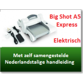 Sizzix Big Shot Express Machine A5-formaat (660850) (Met verrassingspakket t.w.v. € 15,-)
