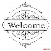 Cadence Mask Stencil HDM - ornament tekst welcome 03 023 0043 25X25cm (184023/0043)*