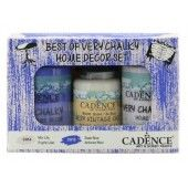 Cadence Very Chalky Home Decor set Paars lila - Leisteenblauw 01 002 0007 909050 90+90+50 ml (301260/1007) CH14