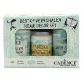 Cadence Very Chalky Home Decor set Puur wit - Mold - groen 01 002 0001 909050 90+90+50 ml (301260/1001) CH02