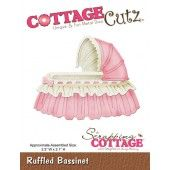 RUFFLED BASSINET - Cottage Cutz die CC-012
