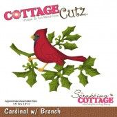 Scrapping Cottage Cottage Cutz stencil - Cardinal With Branch CC-015 8,89 x 6,6 cm