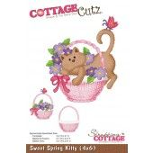 Cottage Cutz - Screapping Cottage - Sweet Spring Kitty - CC4x6-151