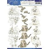 3D Knipvel - Precious Marieke - Winter Wonderland / Winter Animals