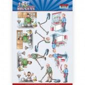 3D Knipvel - Yvonne Creations - Big Guys - Workers - Big Cleaning