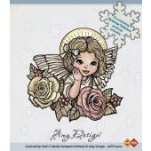 Clearstamp - Amy Design - Angel with roses