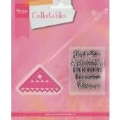 Marianne Design - Collectables - Corner and wintersentiments (UK) (COL1342) (25% KORTING)*