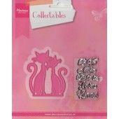 Marianne Design -  Collectables - French cats  (COL1344) (25% KORTING)