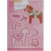Marianne Design - Collectables - Eline's Dala Horse (COL1371) (25% KORTING)*