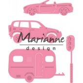 Marianne Design -  Collectables - Village decoration set cars (COL1435)