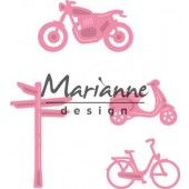 Marianne Design -  Collectables - Village decoration set bycicle (COL1436)