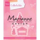 Marianne Design -  Collectables -  illage decoratie set 5  (COL1440) (25% KORTING)