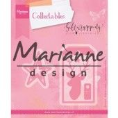 Marianne Design -  Collectables - Giftwrapping - Karin`s deer, stars & tag (COL1442) (25% KORTING)
