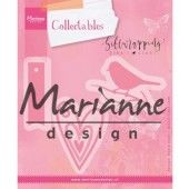Marianne Design -  Collectables - Giftwrapping - Karin`s bird, hearts & tag (COL1443) (25% KORTING)*