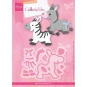 Marianne Design -  Collectables - Eline`s zebra & donkey (COL1447) (20% KORTING)*