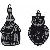 Marianne Design - Craftable - Tiny`s ornaments church & owl (CR1381) (25% KORTING)