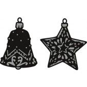 Marianne Design - Craftable - Tiny`s ornaments star & bell (CR1382) (25% KORTING)