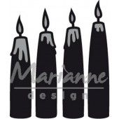 Marianne Design - Craftable - Advent kaarsen (CR1425) (25% KORTING)