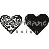 Marianne Design -  Craftable - Lace heart (CR1428) (20% KORTING)