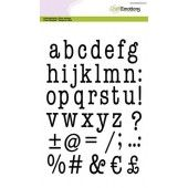 CraftEmotions clearstamps A5 - alfabet typewriter kleine letters +/- 27mm (02-20) (130501/2012)