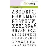 CraftEmotions clearstamps A6 - alfabet typewriter hoofdletters (02-20) (130501/1316)