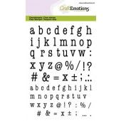 CraftEmotions clearstamps A6 - alfabet typewriter kleine letters (02-20)(130501/1317)