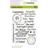 CraftEmotions clearstamps A6 - Bugs & flowers tekst (Eng) Carla Creaties (03-21) (130501/1698)