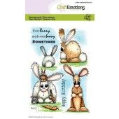 CraftEmotions clearstamps A6 - Bunny 1 Carla Creaties (01-20) (130501/1664)