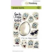 CraftEmotions clearstamps A6 - Egg faces Carla Creaties (01-20) (130501/1670)