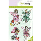 CraftEmotions clearstamps A6 - Fairies GB Dimensional stamp (09-20) (130501/0101)