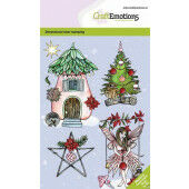 CraftEmotions clearstamps A6 - Fairy house GB Dimensional stamp (09-20) (130501/0102)