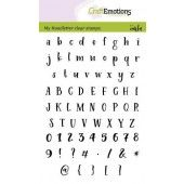 CraftEmotions clearstamps A6 - handletter - alfabet Typewriter Carla Kamphuis (02-20) (130501/1894)