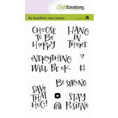 CraftEmotions clearstamps A6 - handletter - Choose to be happy (Eng) Carla Kamphuis (10-20) (130501/2204)*